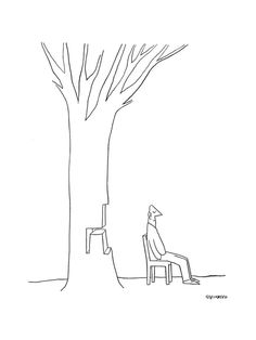 New Yorker Cartoon Premium Giclee Print by Saul Steinberg at Art.com