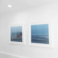 Melissa Mercier, Irrational Fear Of Confined Spaces series. #art #photography #photograph #image #display #touchofjoy #salon #spa #boutique #center #blue #water #lake #calm #wood #abstract #minimalist #phobia #fear #white