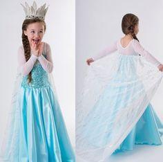 Frozen Elsa Dress Up Gown Costume Ice Princess Queen Dress Size 3 Princess Anna Costume, Princess Aurora Fancy Dress, Princess Dress Kids, Ice Princess, Disney Princess, Princess Birthday, Anna Dress, Queen Dress, Sew Dress