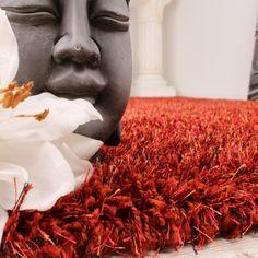 Shaggy Teppich Hochflor Langflor leicht Meliert in Terracotta kaufen