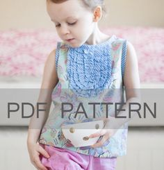 Girls Blouse PDF, sewing pattern, top pattern, Charlotte pdf, girl dress pdf, sewing pdf girl, sizes 2T, 3T, 4, 5, 6, 7, and 8 by JillyAtlanta on Etsy https://www.etsy.com/transaction/1110260144