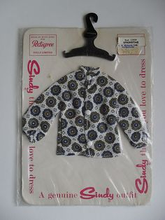 Sindy Doll Vintage Carded 60s MIP 'Springtime Blouse' 1960's