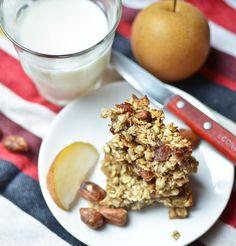 4 ingredient banana oat bars