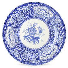 Spode Blue Room Dresser Plate Floral