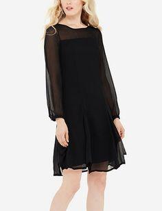 Sheer Yoke Dress
