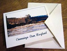 Giclee print notecard of historic Conowingo Dam - blank inside w/ envelope.  $1.50 only at artbyeaf on ETSY. Use coupon code PINMEUP for 10% off. Click here to find out more!