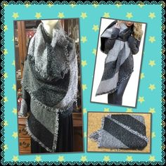 "Luxury warm pashmina wool blanket shawl Fashion stylish brand new in bag black and gray blanket scarf thick and warm  L: 81"" W: 27"" material: artificial cashmere   2 available Accessories Scarves & Wraps"