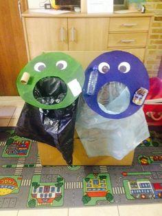 Zelfgemaakte vuilzakken! #Afval Sorteren #EersteKleuterklas #Thema #Afval