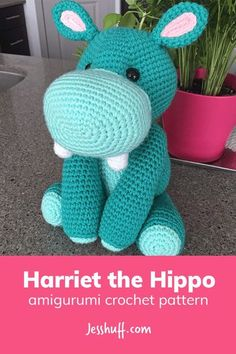 Harriet the Hippo Amigurumi Pattern