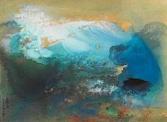 Early Snow (1957) by Zhang Daqian