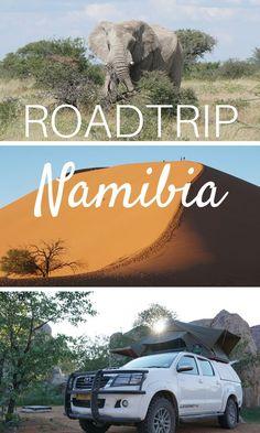 Namibia - unser Roadtrip durch ein unglaublich tolles Land! Drei Wochen erkundeten wir das Land im südlichen Afrika auf eigene Faust mit einem Toyota Hilux Allrad mit Dachzelt. #Namibia #Roadtrip #Safari #Etosha #Sossusvlei Travel Around The World, Around The Worlds, Koh Lanta Thailand, Safari, Toyota Hilux, Roadtrip, Africa Travel, Van Life, Backpacking