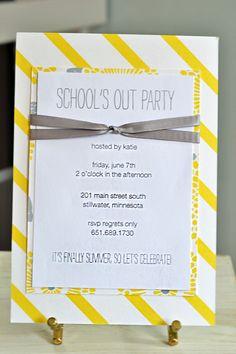 School's Out Party Invitation, Mara-Mi in Stilwater MN