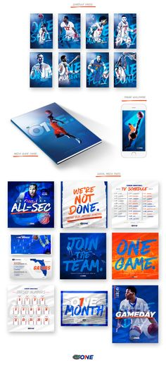 2016-17 Florida Gators Men's Basketball Collateral on Behance