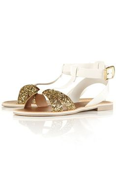 Ankle wrap sandals by Topshop