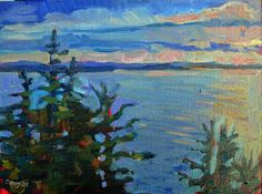 You have to get up pretty early to beat the sunrise in summer in Maine.  http://watchmepaint.blogspot.com/2014/07/how-do-i-love-you-maine-let-me-count.html