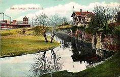 Rockford Illinois IL 1908 Tinker Swiss Cottage Illinois Central Railroad Depot