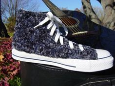 Blue Suede Shoes Knit Chucks by PrettySneaky