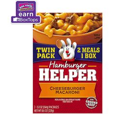 Betty Crocker Cheeseburger Macaroni Hamburger Helper, Twin Pack