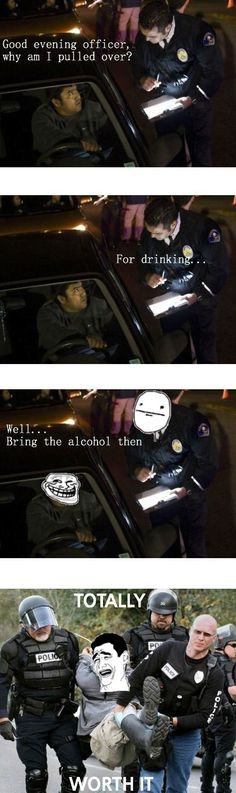 Trolling The Officer After Being Pulled Over #funny #komik #kaybolanytwit