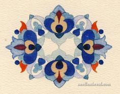 Hungarian Hand Embroidery Pattern #11: Small – Needle'nThread.com