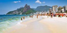 Ipanema Beach http://www.rantapallo.fi/brasilia/rio-de-janeiro/ #rio #ipanema #brasilia