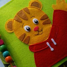 Complete Daniel Tiger Neighborhood inspired quiet book, ready to ship!