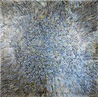 "F. Polenghi, ""K275"", 2012, oil on canvas, cm 132 x 132."