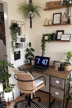 Level up your home office with Laura James. Shop Now Room Design Bedroom, Room Ideas Bedroom, Bedroom Decor, Bedroom Inspo, Indie Room, Aesthetic Room Decor, Cozy Room, My New Room, Room Inspiration