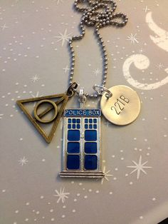 The Ultimate Fandom Necklace - Doctor Who, Sherlock, Harry Potter, 221B, Deathly Hallows, Multi Fandom on Etsy, $22.00