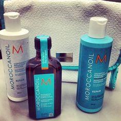 Uma das minhas marcas favoritas!!! Incrível como deixa os fios perfeitos! #cabelo #shampoo #condicionador #hidrata #tratamento #liso #moroccanoil