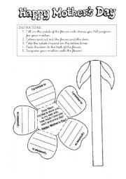 English worksheet: MOTHER´S DAY CRAFT!!!!