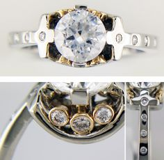 Modern Engagement Ring Design  By Designer Angelo Parisi