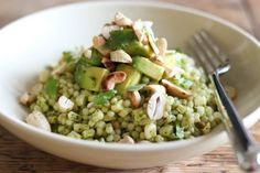 Pearl Couscous with Cilantro & Avocado | Community Post: 30 Delicious Meals In A Bowl