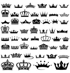 Royal crown vector 1301335 - by derocz on VectorStock®