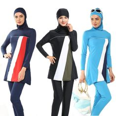 2017 Modesty Muslim Women Swimwear Swimsuit Full Cover Islamic Beachwear Burkini #Unbranded #Swimsuits