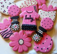 pink amd black baby shower | love pink and black. Add adorable baby shower designs... what a ...