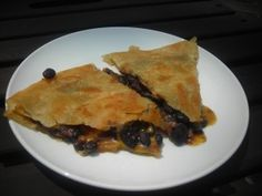 Mmm, black bean quesadillas!