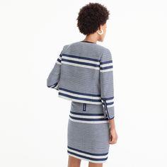 Jacket in striped navy tweed : Women novelty   J.Crew