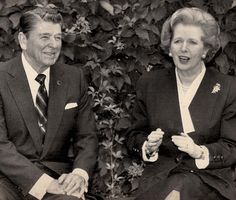 Ronald Regan e Margareth Thatcher