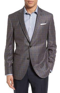 Main Image - Ted Baker London Tom Trim Fit Plaid Wool Sport Coat