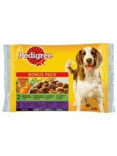 PEDIGREE 4x100g karma mokra dla dorosłego psa w saszetkach  • 4 saszetki w opakowaniu • kompletna karma mokra dla psa dorosłego • posiada doskonałe walory smakowe • sprzyja utrzymaniu zdrowia oraz doskonałej kondycji