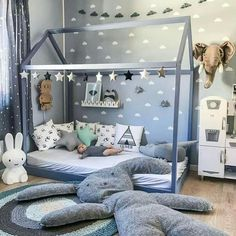 21 Super Cute Floor Bed Designs For Kids Room Decor - Kids Bedroom Boys, Baby Boy Rooms, Kids Rooms, Teen Bedroom, Kid Bedrooms, Room Baby, Boys Bedroom Ideas Toddler Small, Baby Boy Bedroom Ideas, Ikea Toddler Room