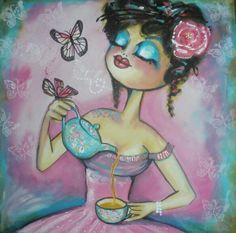 Gretel de Laat, high tea party.
