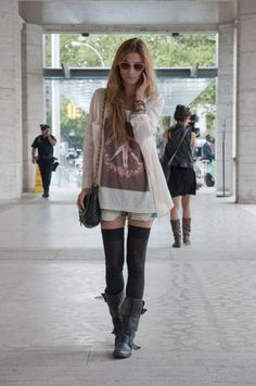 Thigh High Socks Outfit 2017 Street Style
