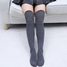 Link Pattern High Quality Black Ladies Knee High Tights Pop Socks.