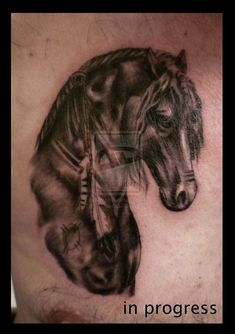 Find and save ideas about Animal horse tattoo design on Tattoos Book. More than FREE TATTOOS Head Tattoos, Body Art Tattoos, Tatoos, Indian Horse Tattoo, Horse Tattoo Design, Free Tattoo Designs, Indian Horses, Animal Tattoos, Horse Tattoos