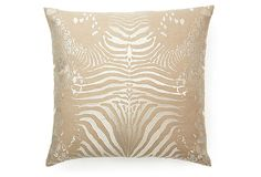 Tiger 20x20 Cotton-Blend Pillow, Ivory on OneKingsLane.com