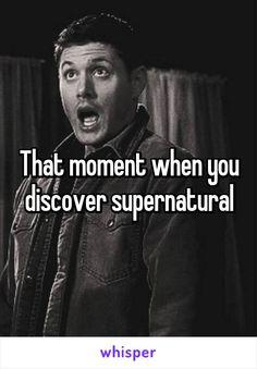 That moment when you discover supernatural .. LOL ^_^ #SPN fandom #Dean Winchester #Jensen