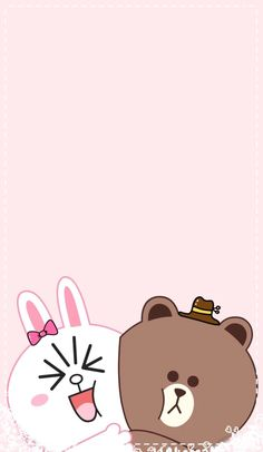 Lines Wallpaper, Brown Wallpaper, Kawaii Wallpaper, Mobile Wallpaper, Wallpaper Backgrounds, Iphone Wallpaper, Cute Simple Wallpapers, Cute Cartoon Wallpapers, Line Cony