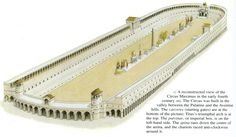 Reconstruction picture of the Circus Maximus in Rome